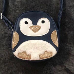 Girls penguin purse